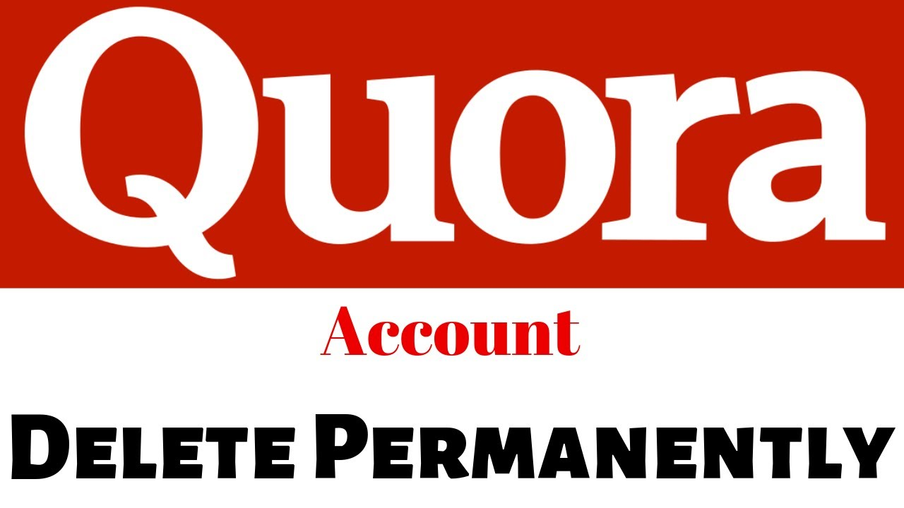 how to delete quora account permanently? - YouTube
