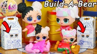Unicorn Family Visit Build A Bear Barbie with Spice | LOL SURPRISE Fun Toys + Dolls | ToyEggVideos