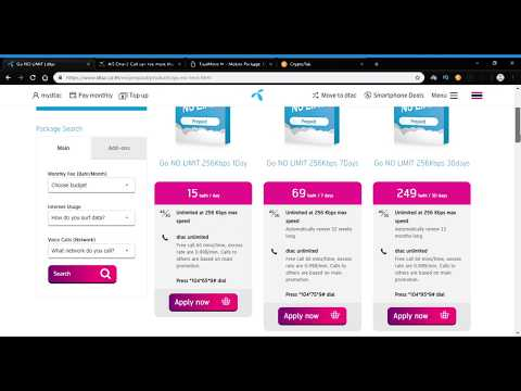 Thailand mobile prepaid internet plans comparison: DTAC vs AIS vs True Move H