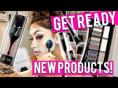 Trying NEW Makeup 1ST IMPRESSIONS   KAT VON D IT MARC JACOBS Colour Pop