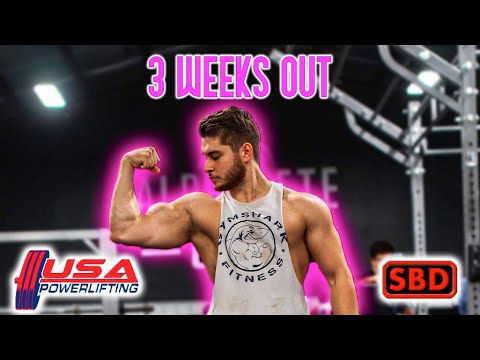 3 WEEKS OUT FROM MY FIRST POWERLIFTING COMPETITION | SBD WORKOUT