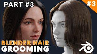 Blender Tutorial - How To Make Female Long Hair [Part 03]