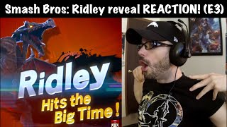 Ridley reveal REACTION! (Super Smash Bros Ultimate - E3 Nintendo Direct) | Ro2R