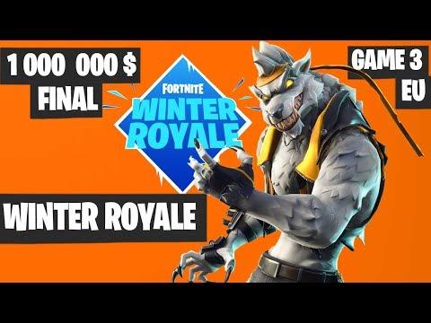 Fortnite Winter Royale GRAND FINAL Game 3 EU Highlights [Fortnite Tournament 2018]
