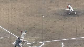 相手打者は、同志社大・河野優貴(4年・京都外大西) 投手 センチ キロ 左...