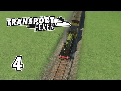 Transport Fever - The New Passenger Train Line -Transport Fever Gameplay - Part 4