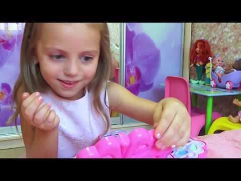 Kids Pretend Play Играем с косметичкой для девочек Платья принцесс