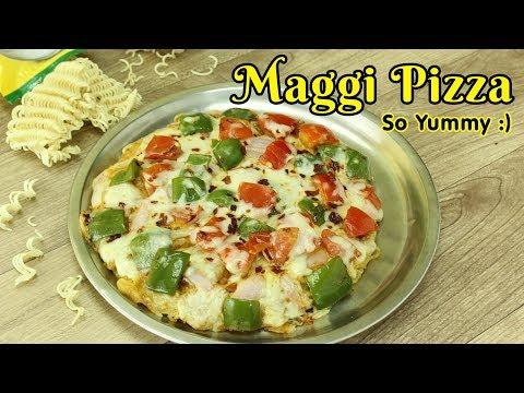 Maggi Pizza without oven, Maggi Noodle Pizza Recipe