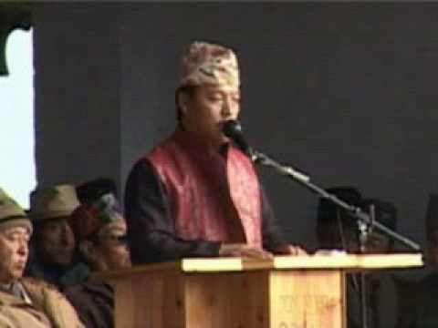 Bimal Gurung addressing public (1 )-21st Dec 2009 - DAINANDINI NEWS KALIMPONG Produced by KalimNews