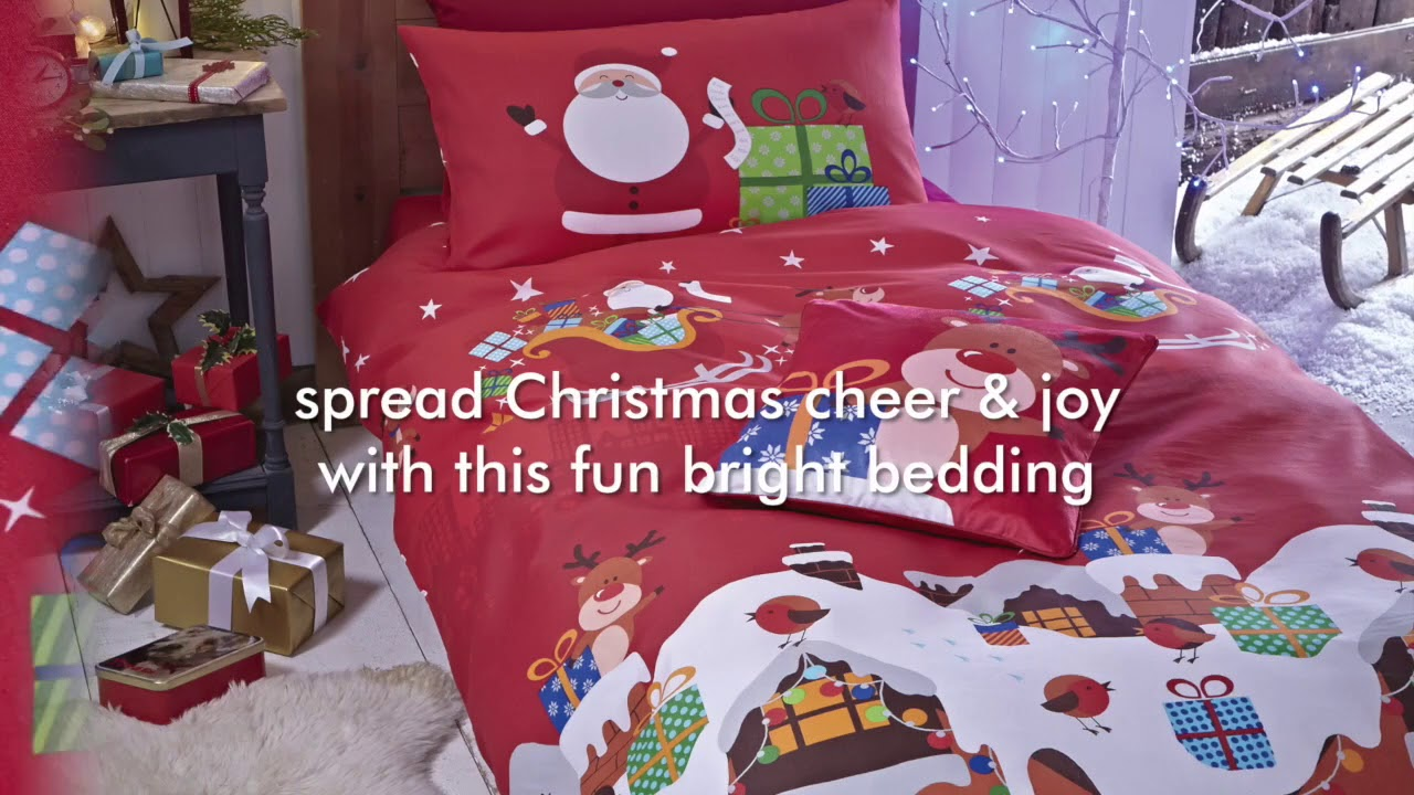 Catherine Lansfield Christmas Bedding Catherine Lansfield Santa S Christmas Presents Red Bedding