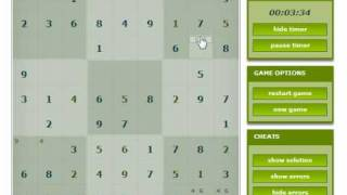 playing flash sudoku online at gaming-monster.com