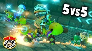 MARIO KART 8 DELUXE COMPETITIVO: RK vs MT | 5vs5 | SNL CLAN WAR | Nintendo Switch