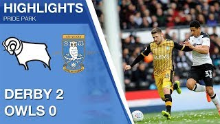Derby County 2 Sheffield Wednesday 0 | Extended highlights | 2017/18