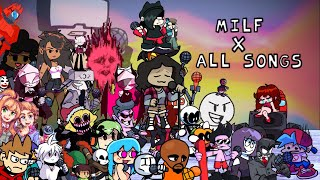 Friday Night Funkin' | Milf X All songs! {Chara, Garcello...} (Part 8)