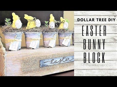 EASTER HOME DECOR DIY ~ DOLLAR TREE DIY ~ Bunny Decor