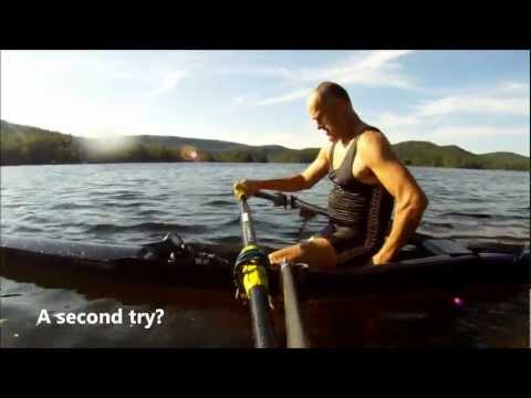 Rowing training Camp and Larry goes for a swim (capsize)
