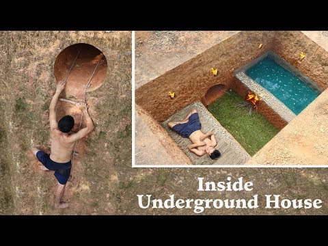 Building Most Secret Underground House with Heated Swimming Pool On The Cliff To Avoid An Enemy