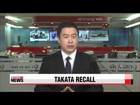 Toyota expands Takata airbag recall in China, Japan   다카타 에어백 리콜사태 각국 확산