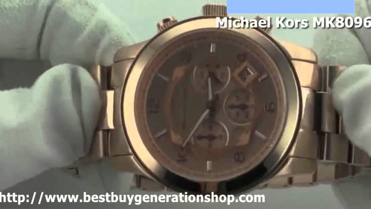 486e0a23d057 Michael Kors Rose Gold-tone Chronograph Mens Watch MK8096 - YouTube