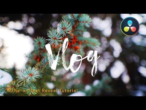 Text Animation In DaVinci Resolve 15 | Write-On Text Tutorial | ThatModernDude