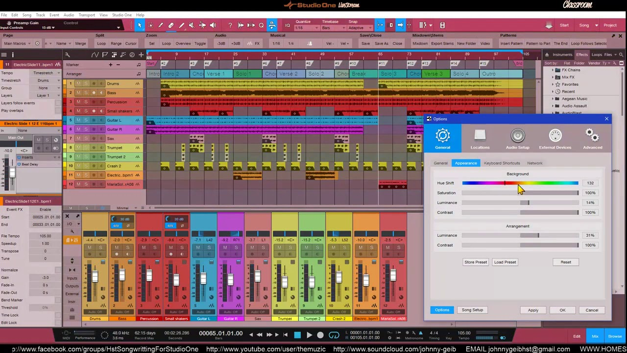 Studio One 4 Changing Your Color Schemes Youtube
