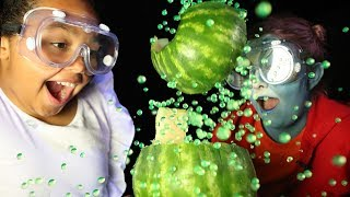 EXPLODING WATERMELON CHALLENGE!! Toys AndMe