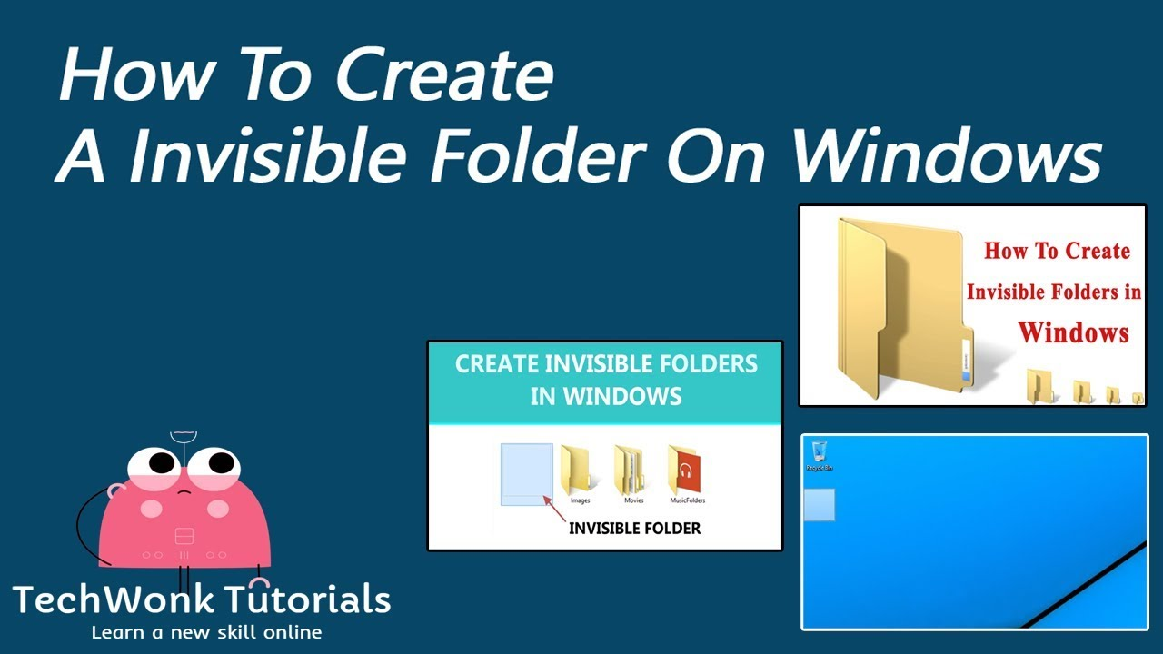 How to create an invisible folder on your desktop 15