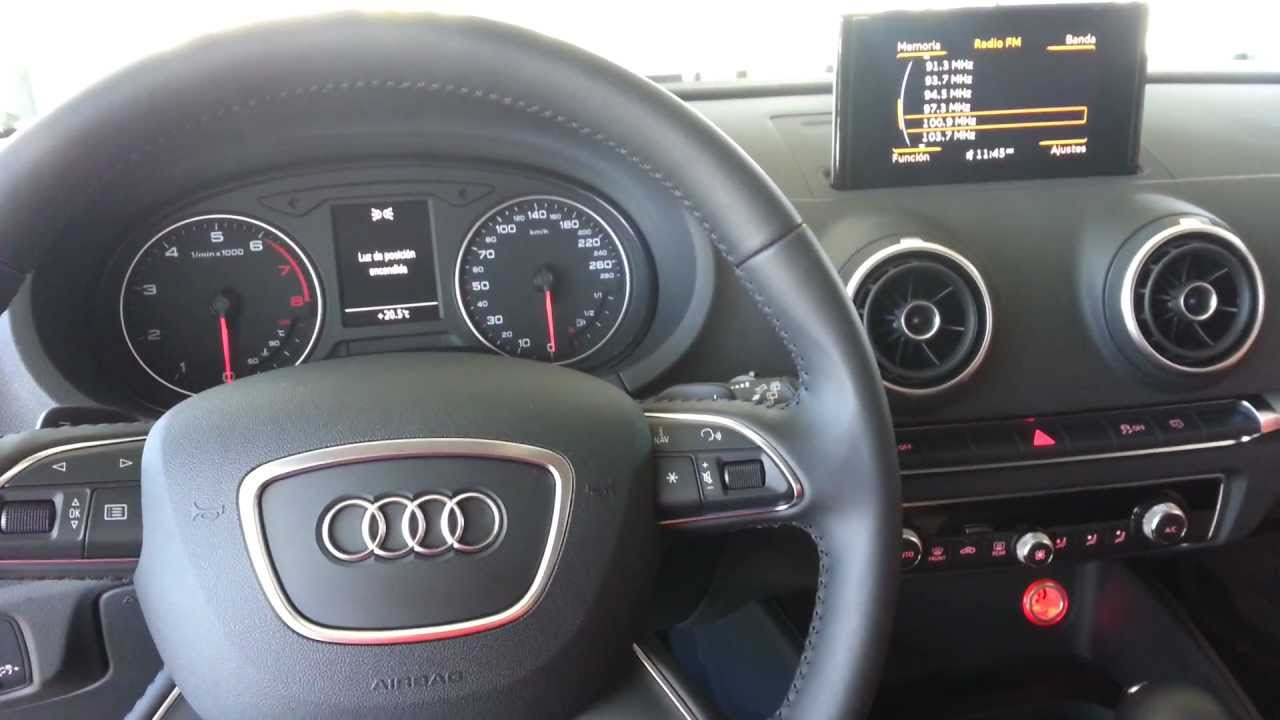audi a3 2013 interior and mmi youtube. Black Bedroom Furniture Sets. Home Design Ideas