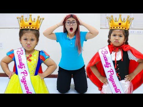 Suri & Annie Pretend Play Beauty Pageant Contest for Kids