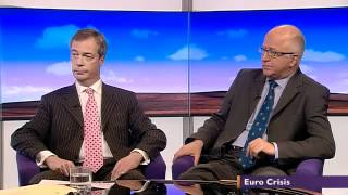 Collapsing Euro, UKIP Nigel Farage vs Labour Denis MacShane - BBC Daily Politics (18May12)