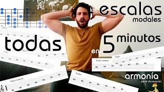aprende TODAS las ESCALAS modales EN 5 MINUTOS CON ESTE TRUCO! I Armonía para dummies II