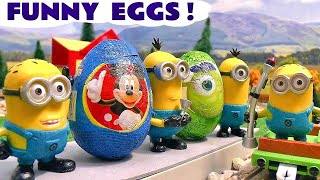 Minions funny Kinder Surprise Eggs with Thomas The Train