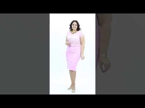 Нежная кружевная блуза розового цвета