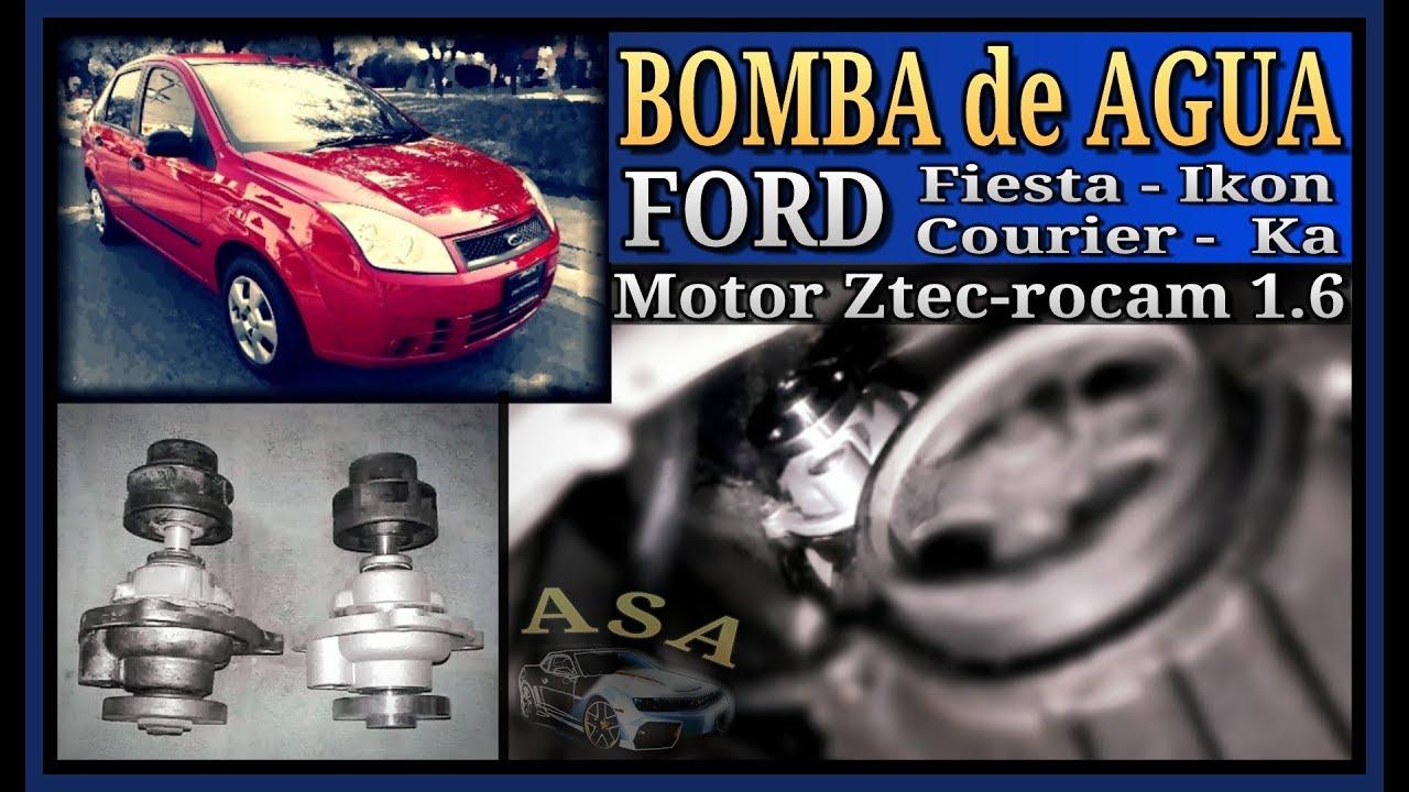 Bomba de agua ford fiesta courier ikon ka como for Cambiar bomba de agua
