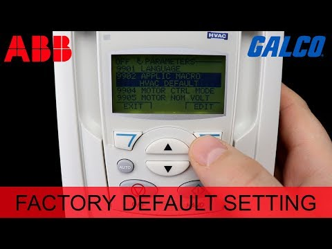 Resetting an ABB ACH550 HVAC Drive to Factory Default Settings - 동영상