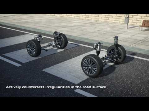 2018 Audi A8 mild hybrid electric vehicle with active suspension