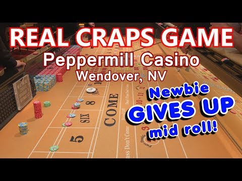 Live Craps Game #33 - LOTS OF ACTION & FUN! - Peppermill Casino, Wendover, NV - Inside the Casino