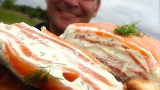 Salmon Terrine: Layers Of Lemon, Cream Cheese, Herbs & Salmon