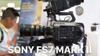 Trên Sony FS7 Mark II