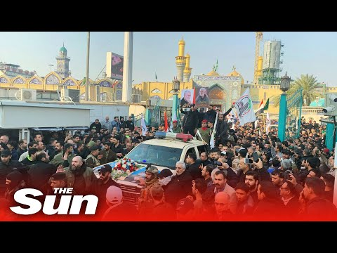 Killed Iranian general - Thousands of angry mourners chant 'death to America' at funeral procession