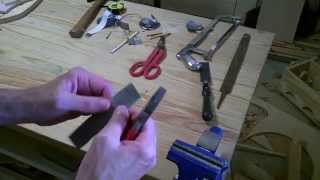 How to make a hinge, from a tuna fish can. Real Time.