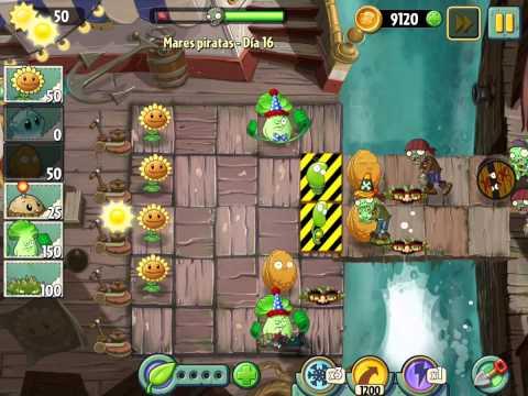Plants Vs Zombies 2 Mares Piratas Dia 16