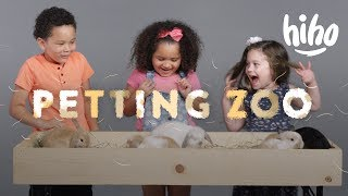 Kids Meet Bunnies, Chinchillas, and a Sheep! | HiHo Petting Zoo  | HiHo Kids thumbnail