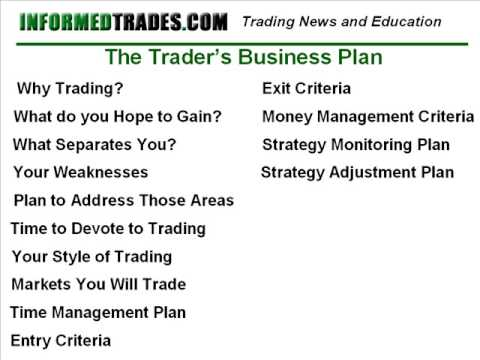 Making a forex trading plan