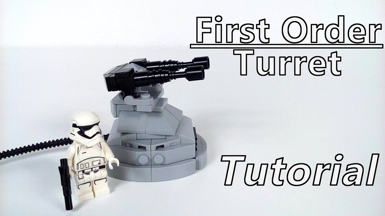 how to build lego star wars first order turret  moc