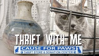 Thrift with Me+Home Decor Haul-Cause for Paws Thrift Store Raleigh NC