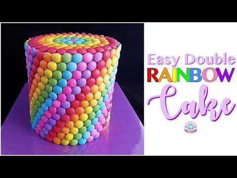 Easy Double RAINBOW CAKE| Abbyliciousz The Cake Boutique