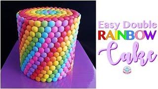 Easy Double RAINBOW CAKE | Abbyliciousz The Cake Boutique