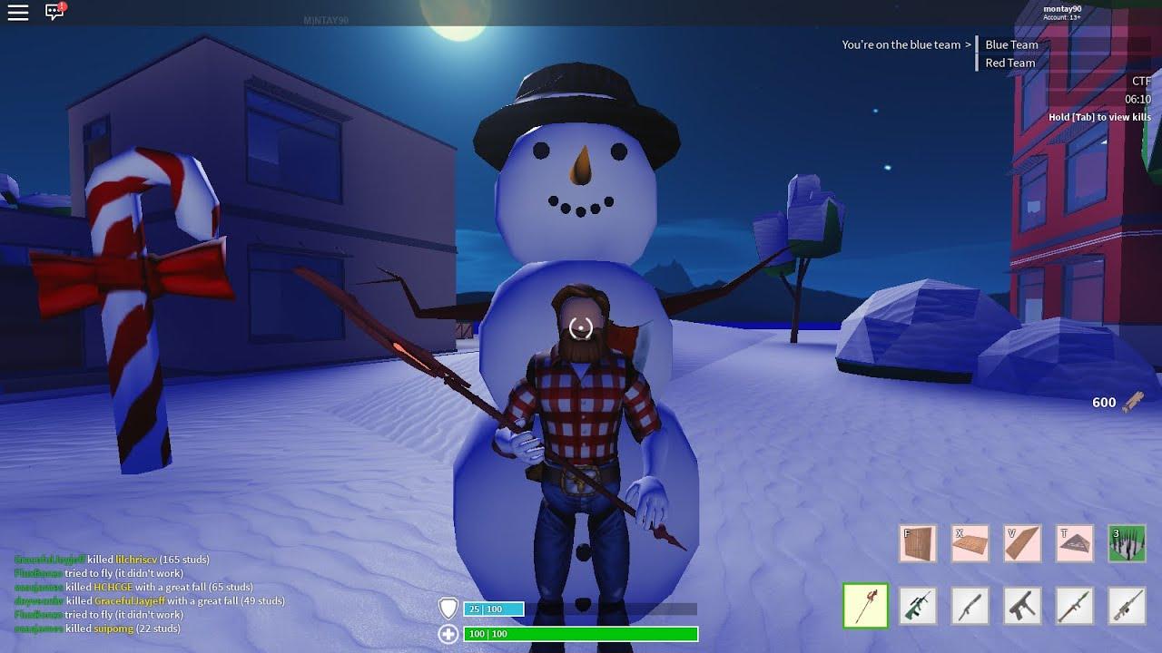strucid  skin lumberjack  christmas update map youtube
