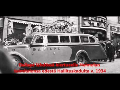 Helsinki-valssi, Georg Malmsten ja Dallapé-orkesteri v.1935